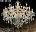 Cognac Crystal Chandelier Lamp Glass Arms Chandelier Pendelleuchte Cristal Lusters Crystal Lighting MD3148