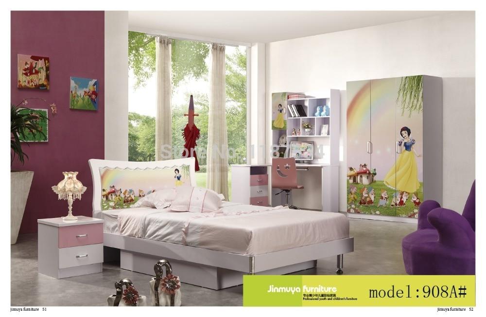 908a Bedroom Home Furniture Bed Wardrobe Desk Nightstand