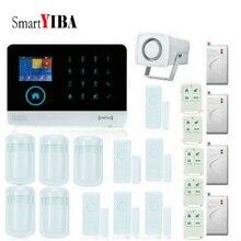 SmartYIBA Wireless APP Control Home Burglar Security Protection Voice Prompt Alarm Kits With Door Window Shock