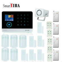 SmartYIBA Wireless APP Control Home Burglar Security Protection Voice Prompt Alarm Kits With Door Window Shock Sensor