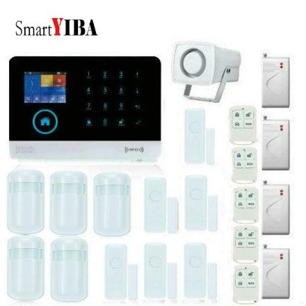 SmartYIBA contrôle d'application sans fil Protection de sécurité anti-effraction à domicile Kits d'alarme vocale avec capteur de choc de fenêtre de porte
