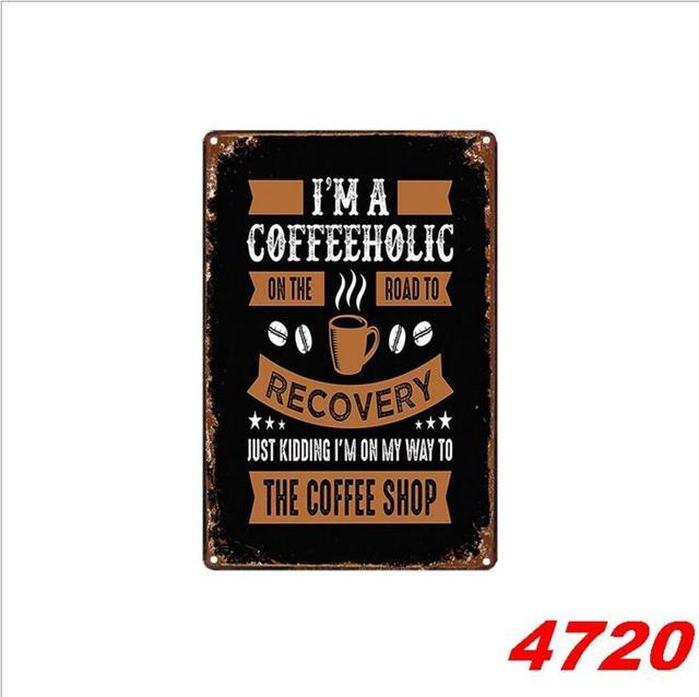 Kaffee Shop Decor Zinn Zeichen 20*30CM Metall Lizenz Platte Antike Metall Zinn Malerei Pub und Shop DECOR wand Aufkleber