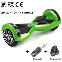 Intelligent 8 Inch 2 Wheel Self Balancing Scooter Smart Electric Scooter Unicycle Bluetooth Key Hoverboard No