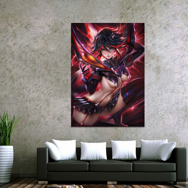 Décor à la maison toile tuer la tuer Ryuko Matoi 1 pièce Anime Sexy fille Art affiche imprime photo décoration murale peinture en gros