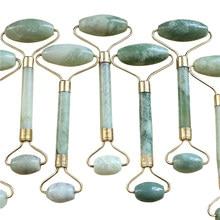 Rouleau de Massage Facial pratique Portable en Jade naturel, Anti-rides, amincissant, modelant, outil de beauté pour la Relaxation des pieds