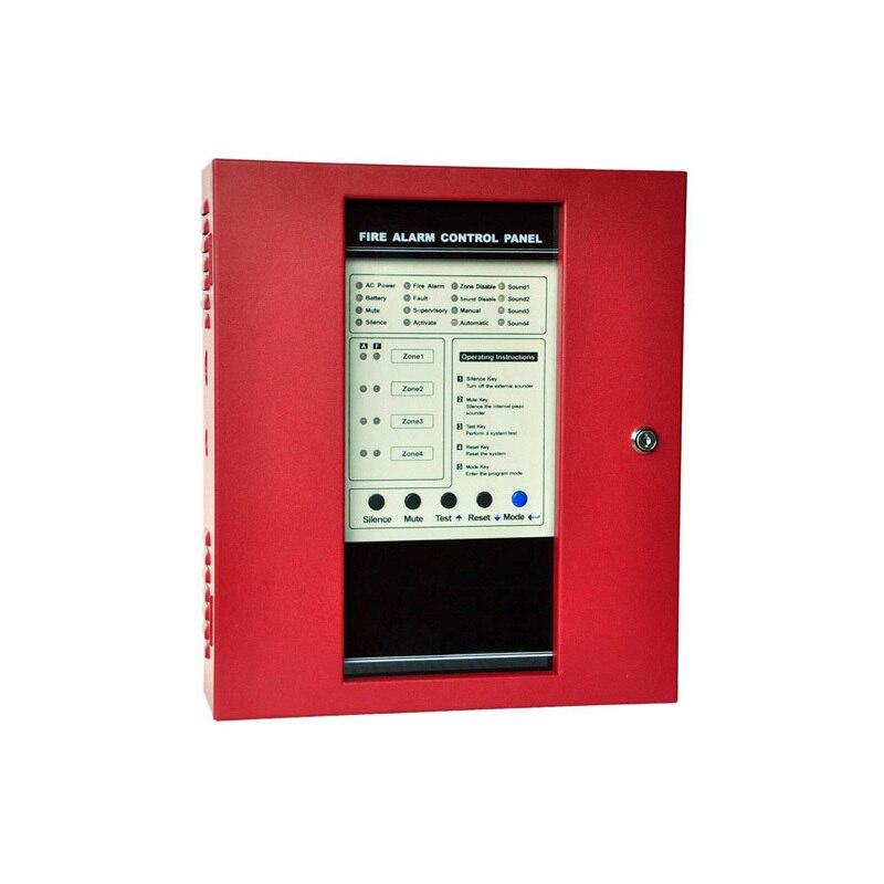 (1 Satz) Brandmelderzentrale 4 Zonen Sicherheit Schutz Einfache Installation Englisch Manuellen Alarm System Rauchmelder Die Neueste Mode