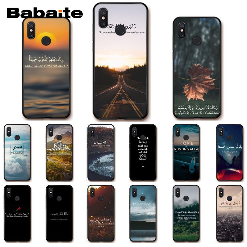 Objective Babaite Arabic Quran Islamic Quotes Muslim Soft Phone Case For Xiaomi Mi 6 Mix2 Mix2s Note3 8 8se Redmi 5 5plus Note4 4x Note5 Regular Tea Drinking Improves Your Health Half-wrapped Case
