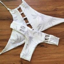 ANLALA 2016 new European and American printing sexy bikini white maple leaf