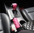 Fashion Women's car special plush leather gears sets handbrake cover