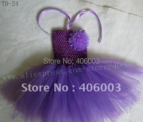 ; детское вязанное крючком изделие; топ с лямкой; платье-пачка; цвет фиолетовый