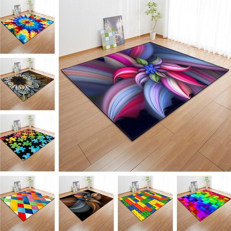 Coloré 3d tapis salon grand tapis chambre tapis alfombra enfants tapis pour la maison salon doux canapé sol tapete salon