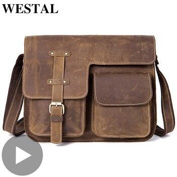 Genuine Leather Big Cross Body Crossbody For Men Shoulder Bag Messenger Handbag Briefcase Male Black Sac A Main Bolsas Large Hot