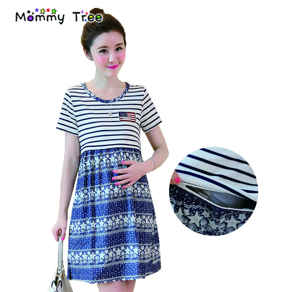 Compare prices on fashion pregnancy dress online shoppingbuy low summer nursing dress stripe casual maternity clothes short sleeved pregnancy dresses for pregnant women breastfeeding ombrellifo Gallery