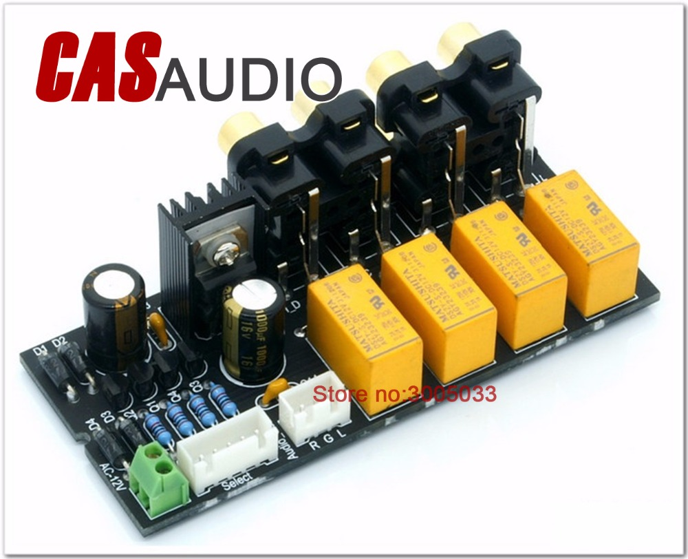 Relay Switching Circuit 4 Channel Stereo Audio Signal Input Selection Board In Amplifier From Consumer Electronics On Alibaba Group