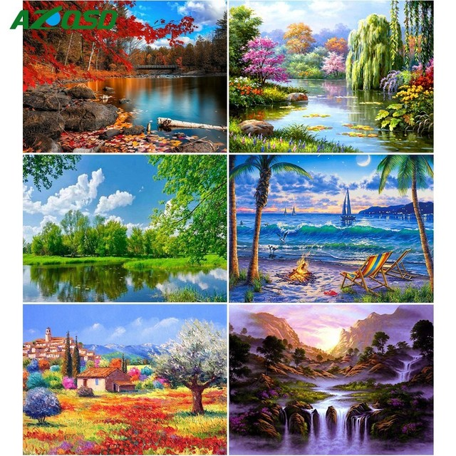 Diamond Painting Landscape Square Needlework Crafts