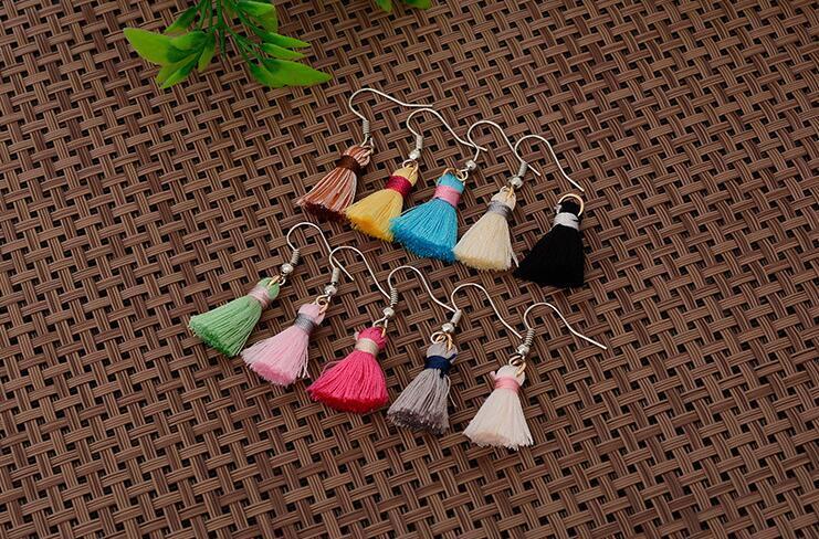 Stud Earrings ear rings Fashion for women Girls lady colorful tassel grace
