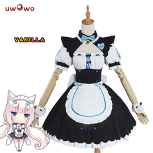 UWOWO Vanilla NEKOPARA Cosplay  Vanilla Chocolate Maid Costume OVA Maid Uniform NEKOPARA Cosplay Cat Neko Girl Costume Women nekopara cosplay chocolat maid costume any size