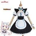 UWOWO Vanilla NEKOPARA cosplay ванильный шоколадный костюм горничной, униформа для горничной, NEKOPARA, косплей, костюм для девочек с котом Неко
