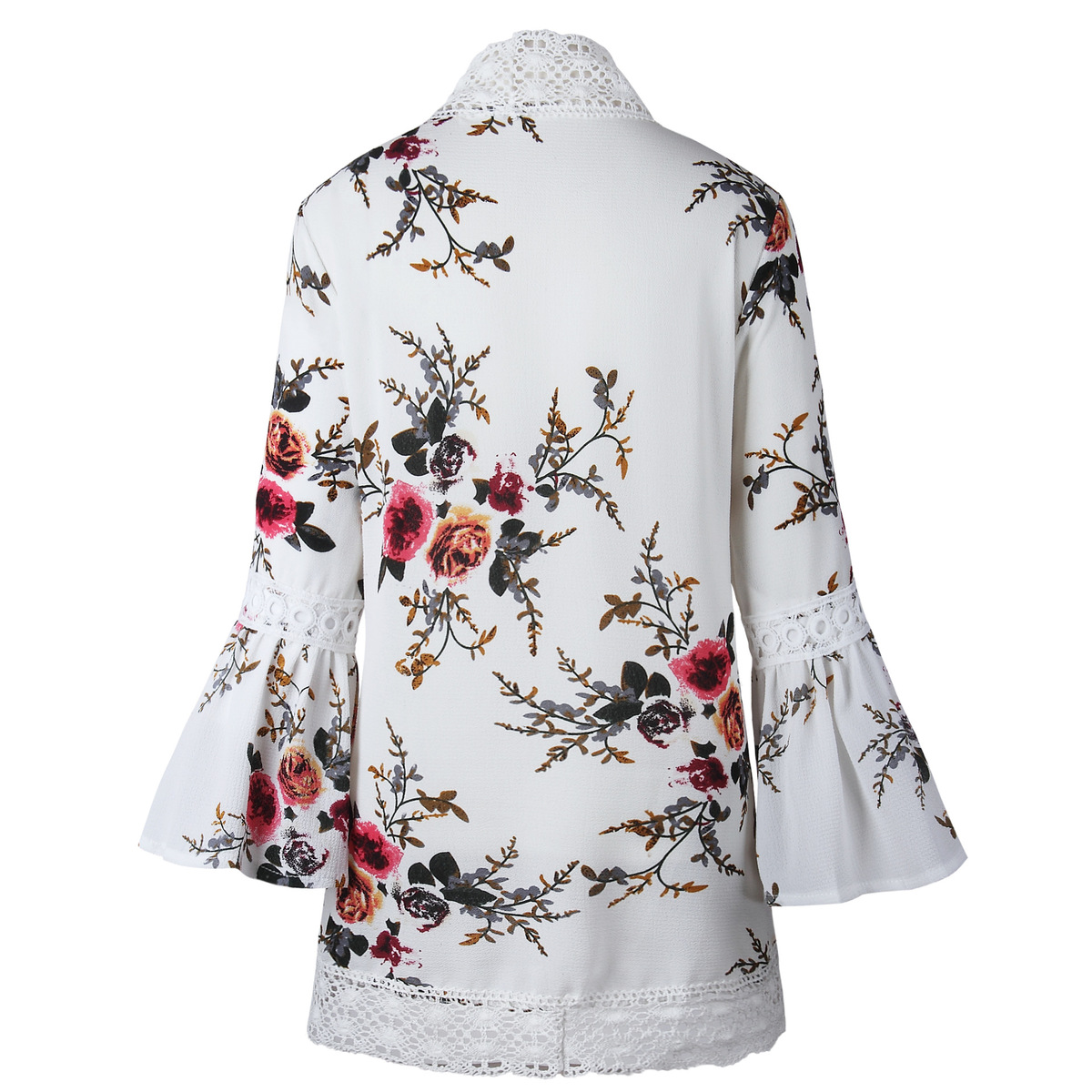HTB1bnGivZuYBuNkSmRyq6AA3pXa7 Women Plus Size Loose Casual Basic Jackets Female 2018 Autumn Long Flare Sleeve Floral Print Outwear Coat Open Stitch Clothing