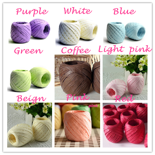 20m 9 Colors Twisted Paper Raffia Ball Craft Favor Gift Wrapping