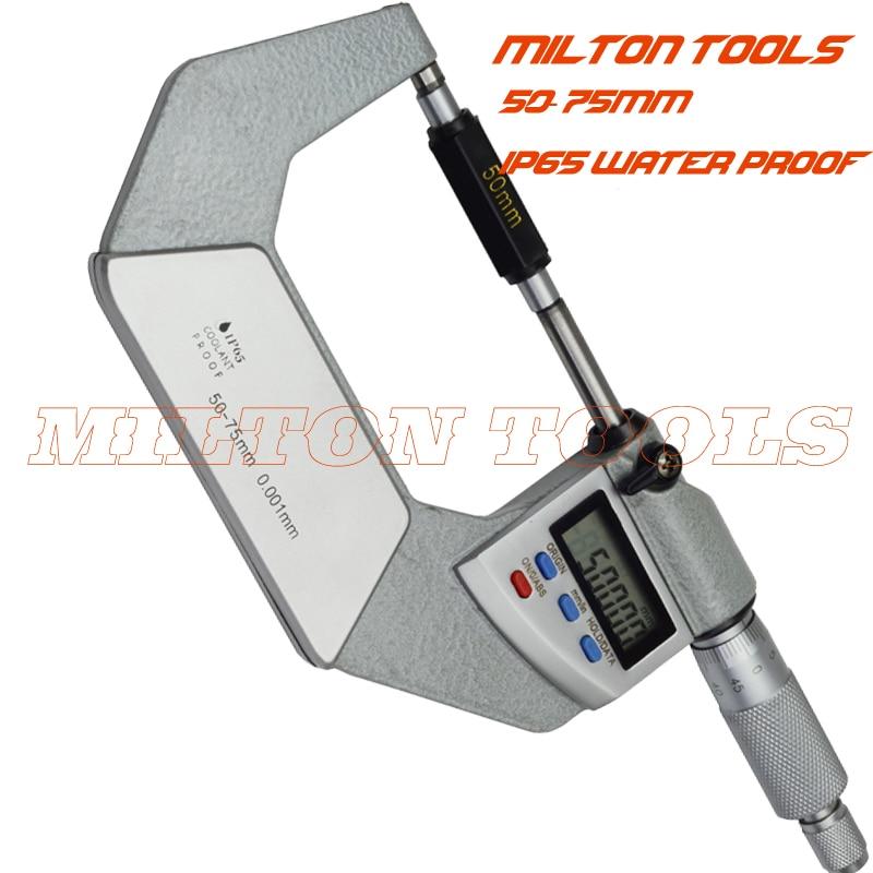 High quality 50 75mm 0 001 mm digital micrometer IP65 Waterproof Digital Outside Micrometer electronic micrometer