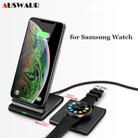 Wireless Charger Stand for Samsung Galaxy Watch active Buds Gear S2 S3 S4 Sport Mobile Phone Fast QI Wireless Charger Pad 10W