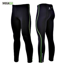 WOSAWE Mens Compression Tight Trouser Base Layer Skins Running Run Fitness Excercise Cycling Clothing Bicycle Bike