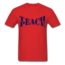 Design Custom Shirts  Best Friend Education Statet Teach Peace O-Neck Short Sleeve For Men