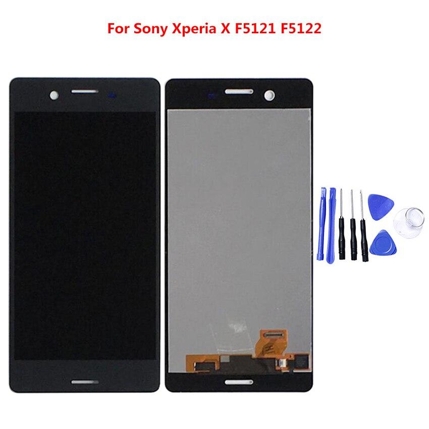 LCD pour SONY Xperia X F5121 F5122 Compact LCD écran tactile numériseur sans pièces de rechange de cadre