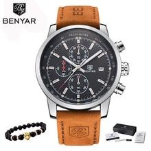 2018 BENYAR Watches Men Luxury Brand Quartz Watch Fashion Chronograph Watch Reloj Hombre Sport Clock Male hour relogio Masculino