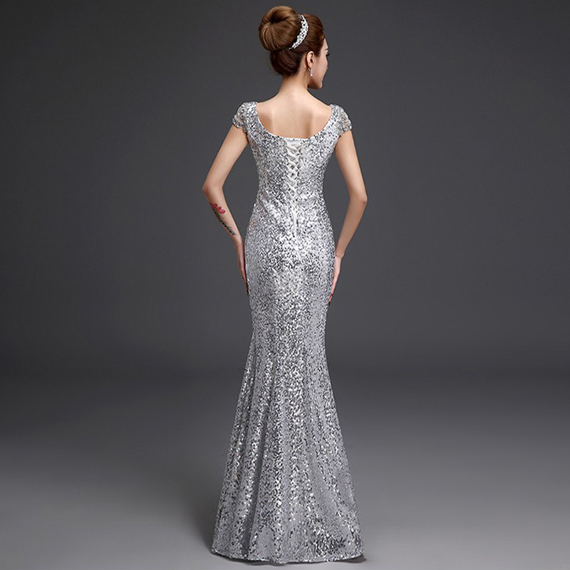 2019 Duga sirena Večernje haljine Formalne Prom haljina Sequins - Haljina za posebne prigode - Foto 2