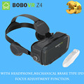 New High Quality BOBO Z4 Plastic Google Cardboard Virtual Reality VR Cardboard 3D Glasses + Remote Gamepad Bluetooth Controller