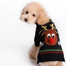 Xmas Reindeer Pet Dog Sweater For Autumn Winter Wholesale Warm Knitting Crochet Christmas Dog Clothes New