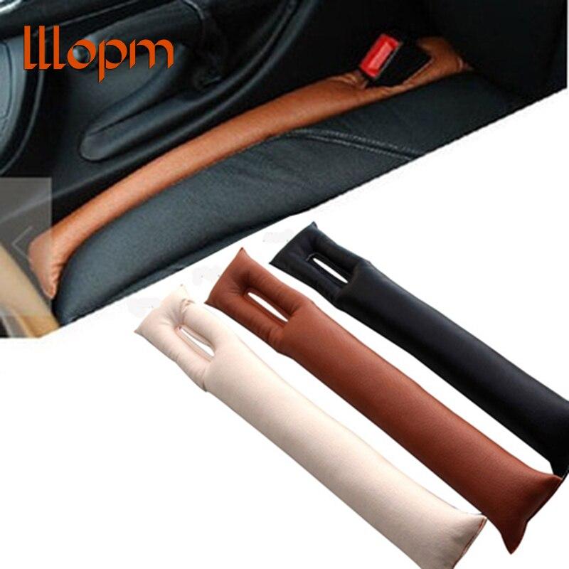 1pc preto bege marrom estilo do carro assento almofada fenda gap rolha couro do plutônio leakproof protetor de assento capa acessórios