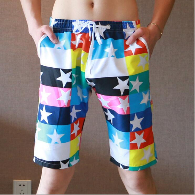 2014 New XUBA100% cotton mens casual shorts plaid sports  2 Colors Size S M L XL