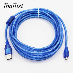 Lballist Usb-Cable Shielded Braided Mini 5pin Type Male 5m To 3m Foil 10m