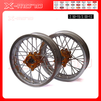 Customized Pit Bike Rims 15mm Hole 3 00x12 Inch 2 50 12inch Front And Rear Wheel