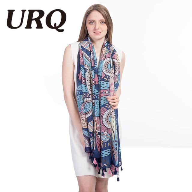 soft bright no smell foulard Scarf for Women print ethnic scarf fashion style Flower Shawls hijab Sping summer 2017 new brand