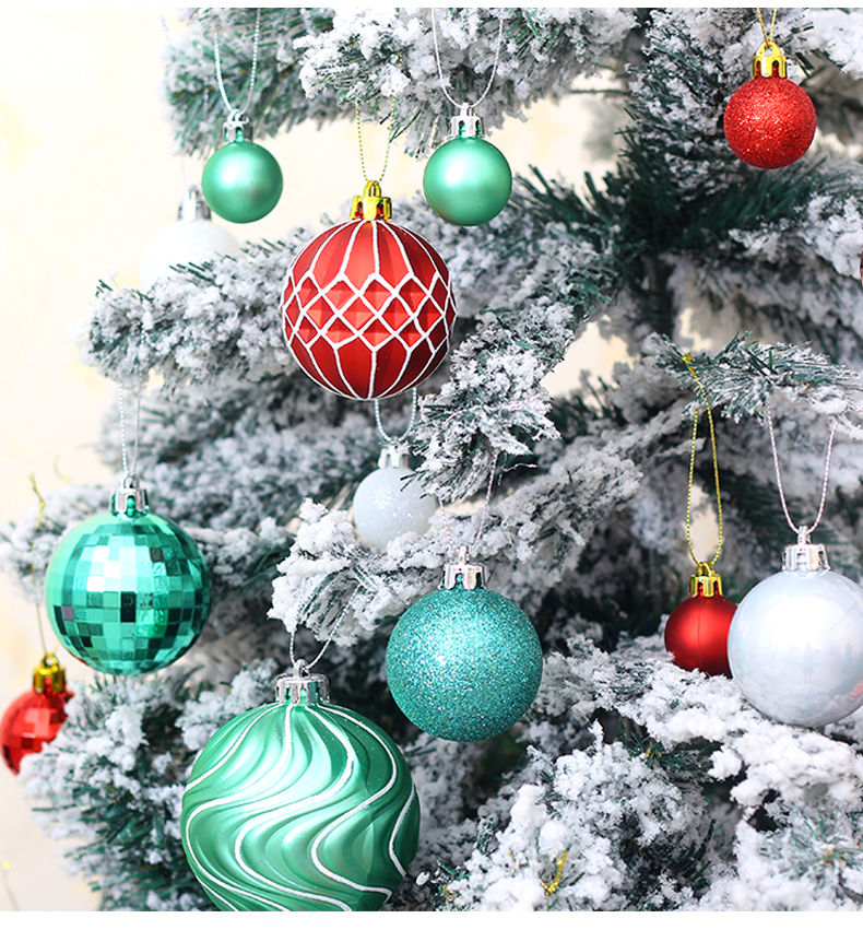 08 inhoo Plastic Christmas Balls For Home Christmas Tree Decorations White Baubles Xmas Ornaments Pendant Balls 2019 New Year Gifts
