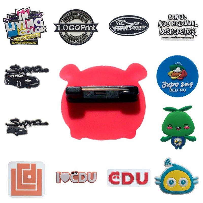 Personnalisation personnalisée PVC broches votre propre conception Logo d'entreprise conception personnalisée broches broche broches Badge pour la vente en gros