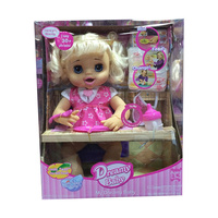 Simulation fashion can speak , eat some food ,drink water , to the toilet baby doll model Action Figures baby kids toy