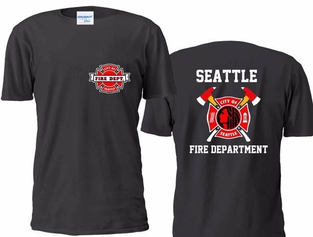 2019 Fashion 100 Cotton Men T Shirt Tees Custom New Seattle Fire