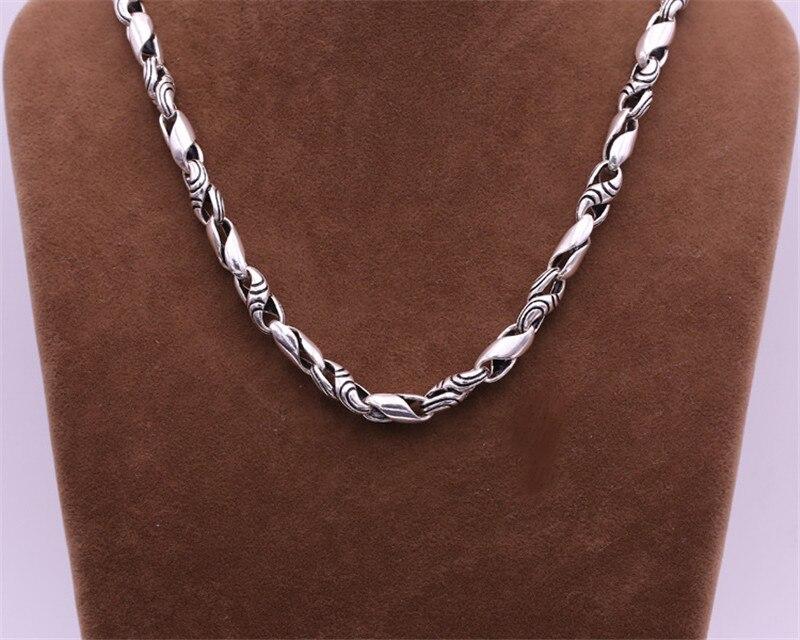 2018 nouveau 925 collier en argent Sterling hommes bijoux 7mm large armure corde chaîne pendentif collier hommes cadeau bijoux fins