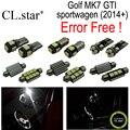 13 unid x decodificador canbus libre de errores para volkswagen vw golf 7 GTI MK7 MKVII sportwagen lámpara LED Kit de Luz Interior paquete (2014 +)
