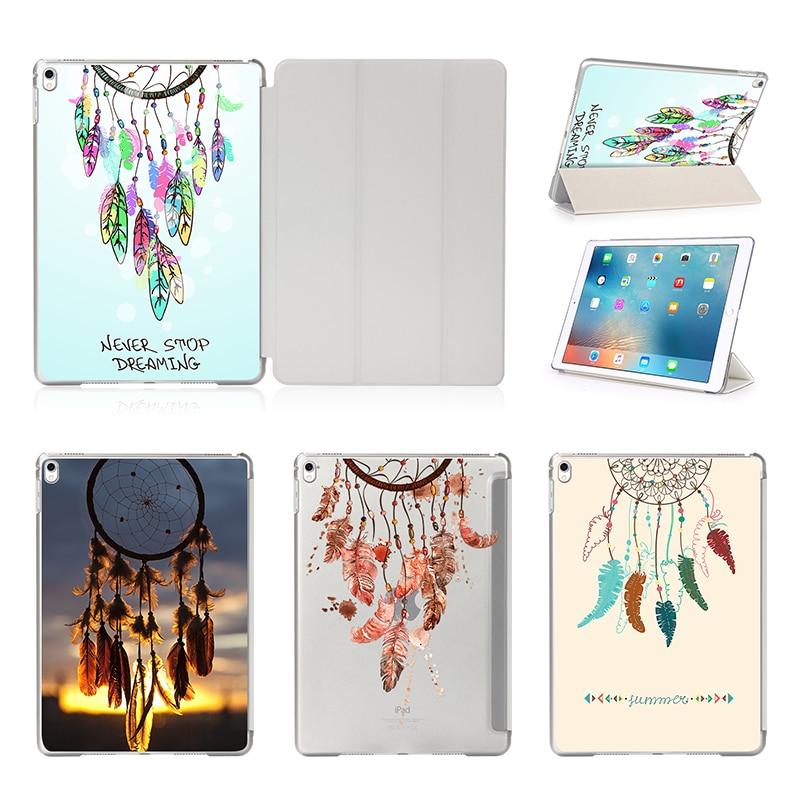 Flip Leather Stand Cover Case for Apple iPad air 2 iPad mini 4 iPad 2 3 4 iPad Pro 9.7 12.9 Print Colorful Dream Catcher Case