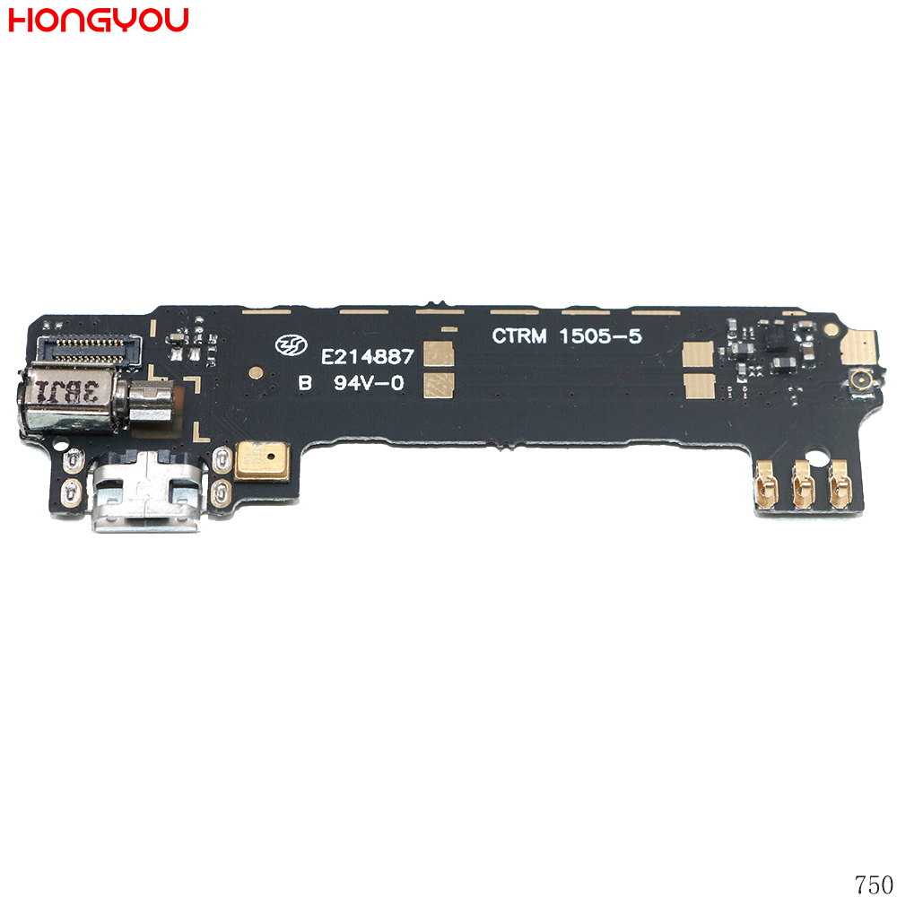 Used USB Charging Port Dock Plug Jack Connector Charge Board + Vibrator Flex Cable With Microphone For OPPO Find 5 X909