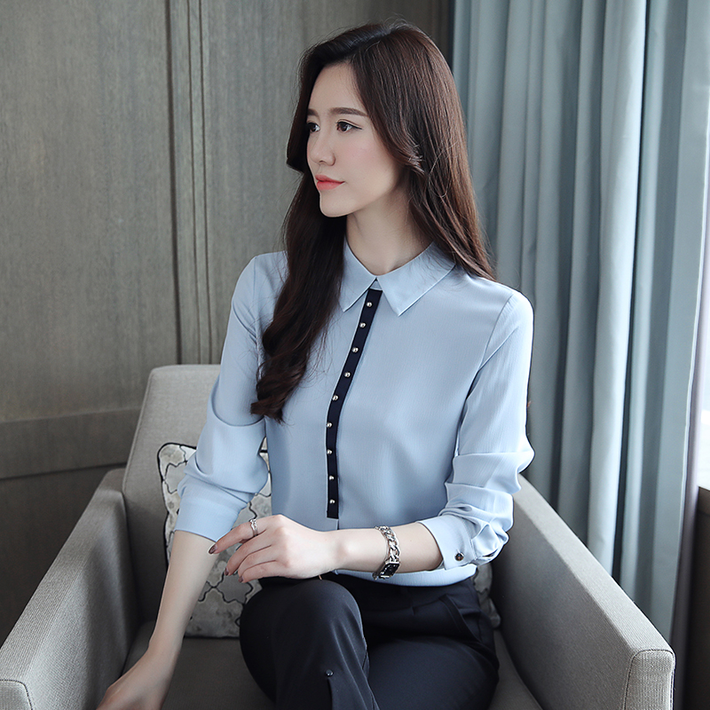 Lace Blouse Fashion Women 39 s Blouses Shirt 2019 fashion spring Chiffon elegant Long Sleeve lace Shirts Ladies New arrival 85J in Blouses amp Shirts from Women 39 s Clothing