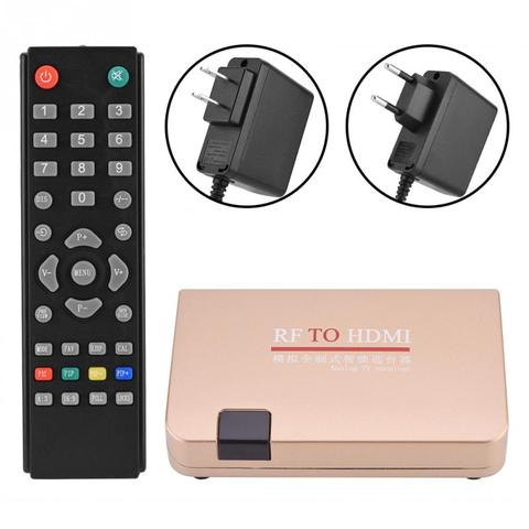 RF to HDMI Converter Analog TV Receiver Adapter Digital Converter Box with Remote Control for Projectors Network Engineering Karachi