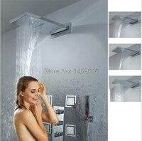 Mejor 550 230mm de latón lluvia de techo ducha oculta superior de ducha de monzón con 006