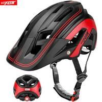 Cycling Helmet Integrally molded Bicycle Helmet Road Mountain MTB Bike Ultra light Helmet With LED Lights Glasses Bike Equipment|Bicycle Helmet| |  -